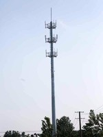 more images of Anti-wind galvanized single tube communication tower