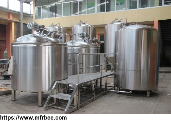 2500L customized brewhouse for commercial brewery saccharifying tanks