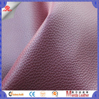 2017 latest encryption warp knitting litchi pvc leather for shoes