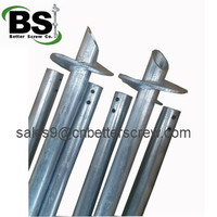 Foundation construction support helical screw steel pipe
