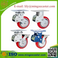 Heavy Duty Swivel Double Bearing Industrial Cast Iron Spring Loaded Casters