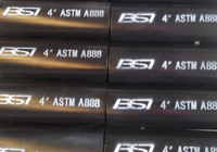ASTM A888/CISPI301 CAST IRON HUBLESS PIPE AND FITTINGS
