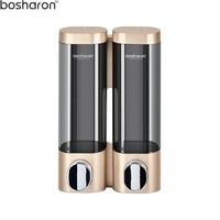 High quality gold double soap dispenser 300ml plastic bathroom accessories