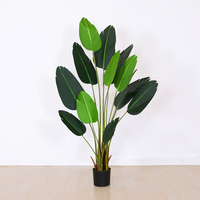 Natural artificial bonsai greening potted travellers palm artificial banana tree with real touch leaves