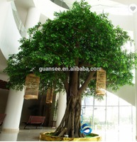 Large fiberglass artificial banyan tree ficus tree for garden or shopping mall decoration