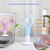 2 in 1 portable waterdrop cooling air usb fan mini stand battery operated electric fan
