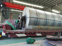 2 sets 12T/D waste tyre pyrolysis plant were shipped to Inner Mongolia