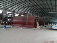 Chongqing 4 sets tyre pyrolysis plant finish installation