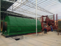 2 sets of 12T/D waste tire pyrolysis plant installed in Guangdong