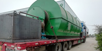 4 sets 10T/D waste tire pyrolysis to oil machine delivery to Tongshan, Hubei