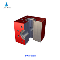 3 Way Block for oilfield wellhead