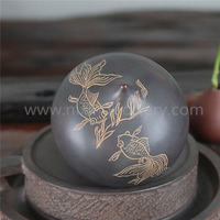 Fish Fun Water Drop Tea Pet Is a Piece Of The Chinese Qinzhou Nixing Pottery Clay