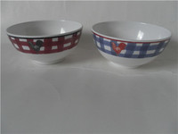 "High quality plastic melamine dinnerware 6"" rice bowl with custom design"