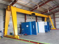 Workshop Yard Lifting Single Beam Gantry Crane Opetator