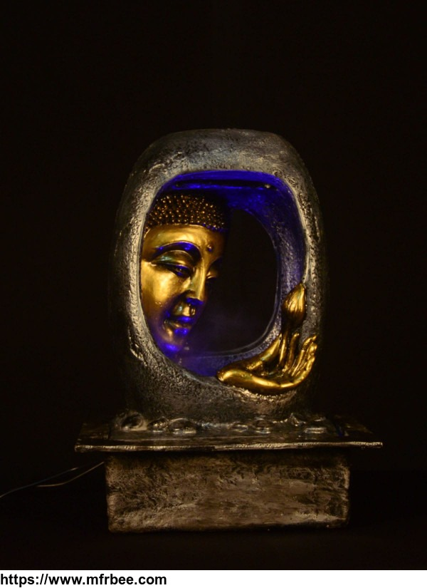 Buddha Face Water Fountain With Multi Color Light