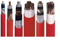 Medium Voltage Red PVC Jacket Power Cable