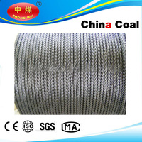 Stainless, PVC Coated / galvanized, ungalvanized steel wire rope