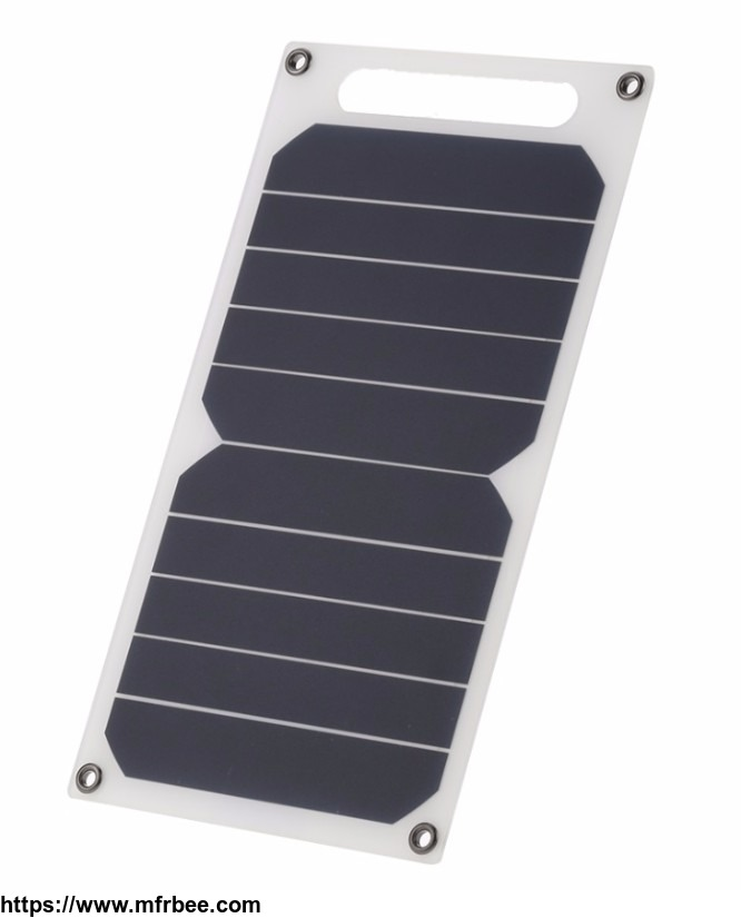 6W 5V Portable Flexible Solar Charger with USB port for Electrical Devices
