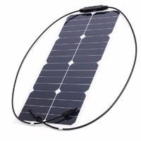 Photovoltaic 28W 18V Semi-Flexible Solar Panel Sunpower Mono Cell Module Kit for Yacht RV Boat Car Charger
