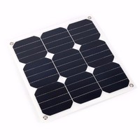 Photovoltaic 30W 18V Flexible Solar Panel Sunpower Mono Cell Outdoor Solar Charger for Yacht RV Boat Car Charger