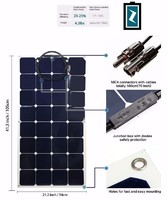 Photovoltaic 100W 18V Flexible Solar Panel Mono Cell Module Kit for Yacht RV Boat Car Charger