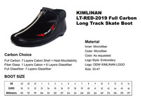 high quality KIMLINAN LT-RED-2019 Full Carbon Long Track Skate Boot