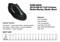 2020 high quality KIMLINAN 2019-QS-01 Full Carbon Roller Derby Skate Boot