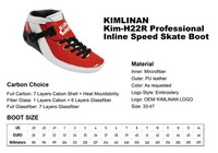 2020 new KIMLINAN Kim-H22R Professional Inline Speed Skate Boot