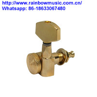 Right Inline Guitar Tuning Pegs Locking Machine Heads with Small Heads for Electric Guitar Gear ratio 18:1