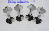 Bass Open Style Tuning Pegs Key Machine Heads Guitar Accessories for Fender JB Replacement Chrome+Black