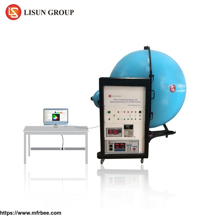 LPCE-3(LMS-7000VIS) 2m integrating sphere and 380nm~800nm spectroradiometer testing luminous flux and color spectrum of led lamp