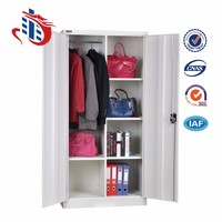 2 doors hang the garment bag integrated ark metal steel cabinet