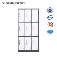 Luoyang cheap Staff use 9 door steel cheap gym locker
