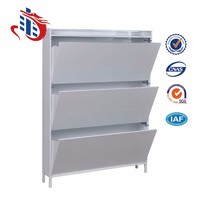 Steel Lockable Ventilation Shoe Rack Cabinet Canada