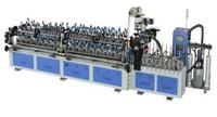 Multifunctional hot melt/PVC hot adhesive profile wrapping machine with PUR hotmelt glue system