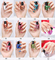 12 Colors Metallic Nail Polish Magic Mirror Effect Nail Art Polish