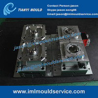 500g two cavities thin wall plastic cup injection moulds