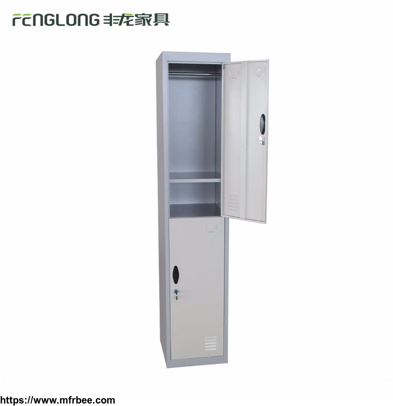 High quality vertical 2 door steel employee sports lockers steel shoe storage locker