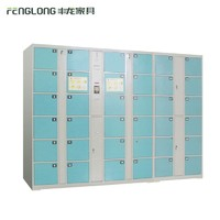 Supermarket Barcode Password 36 Doors Intelligent Coin-Operated Electrical Cabinet