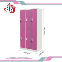 Hot sale cheap used metal gym power coated steel storage locker