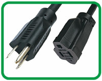 NEMA 5-15P To NEMA 5-15R power extension cord XR-502+XR-301