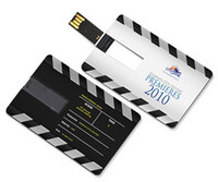 Card-shaped USB Flash Drives, Capacity 1GB to 128GB