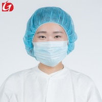non woven disposable medical ear-loop face mask for food processing beauty salon