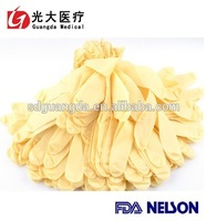 China cheap  colored medical latex gloves