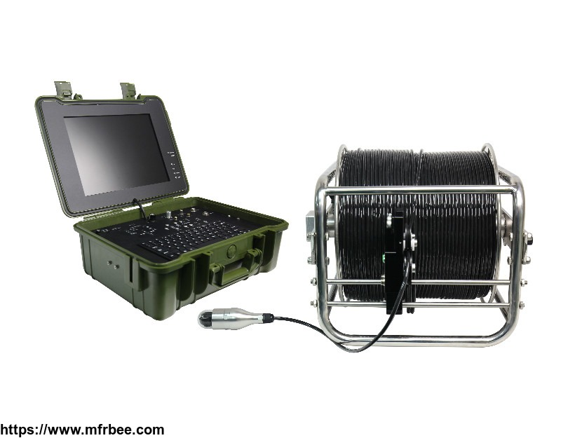 deep well inspection camera with 7mm soft cable video camera system meter/foot counter