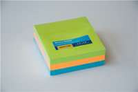 Neon 3 inches colorful paper sticky notes cube
