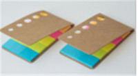 Environmental craft cover 5 holes notepad sticky notes