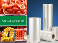 low temperature anti fog economical cross-linked polyolefin shrink film