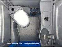 WEN STEEL-portable toilet, portable WC, portable restroom, movable toilet, temporary toilet, portable washroom