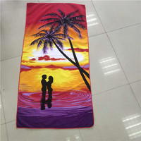 light weight Multi-function 100 % Polyester Paved polyester beach towel